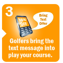 Golfers bring the text message in to play your course